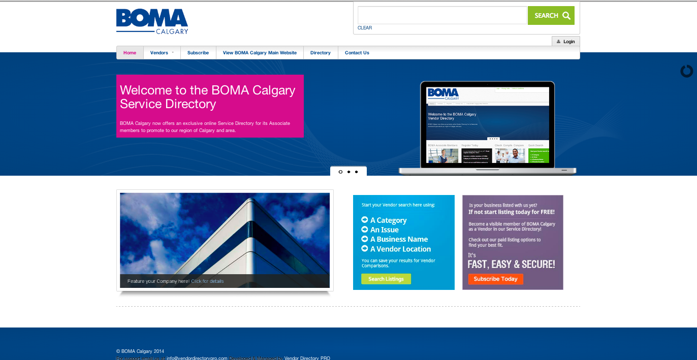 Vendor Directory PRO- BOMA Calgary